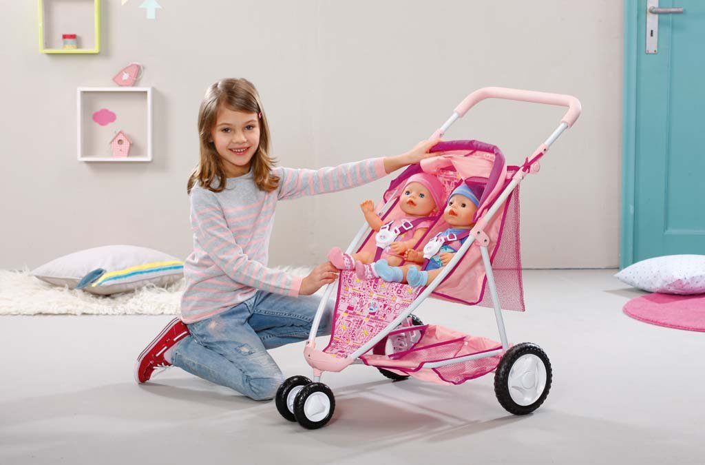 Amazon.es: Zapf Création BABY born Twin Jogger - Accesorios para muñecas: Juguetes y juegos