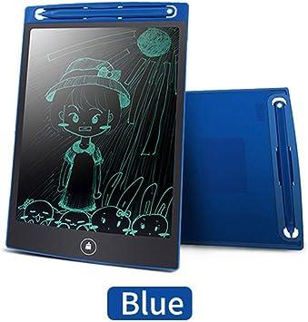 実用的な8.5インチ電子液晶タブレット子供用落書き小さな黒板手描きボードキャンバスライト書き込みタブレット描画ボード再利用可能、ブルー