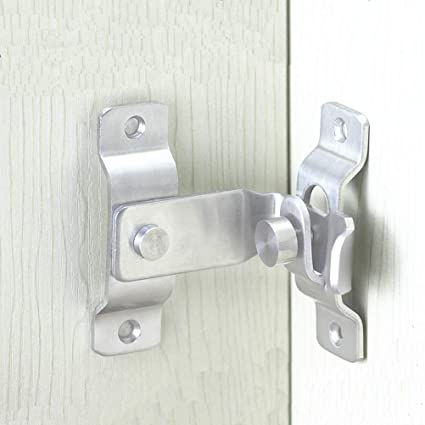 Door Bolt Right Angle Design Home Windows Gate Security Stainless Steel Latch