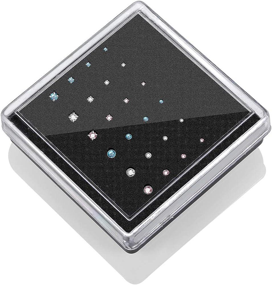 Xpircn 20G Stainless Steel Nose Ring Studs L Shape Bone Shape Screw Nose Rings Piercing Jewelry 9PCS//24PCS//180PCS