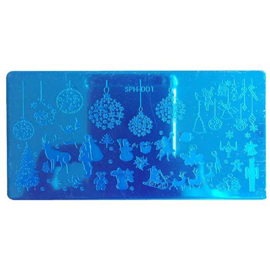 Vovotrade 2016 Nouveaux Plaques de Noël bricolage Nail Art Photo Stamp Stamping Template manucure_A