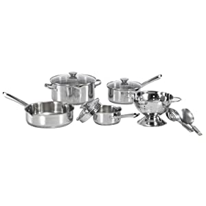 WearEver A834S9 Cook and Strain Stainless Steel Cookware Set