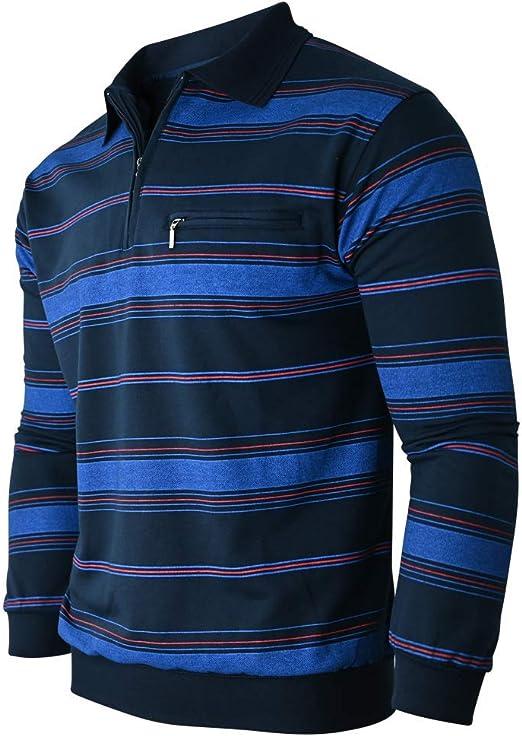 M /à 3XL Soltice Sweat-Shirt /à Manches Longues avec col pour Homme en Coton m/élang/é