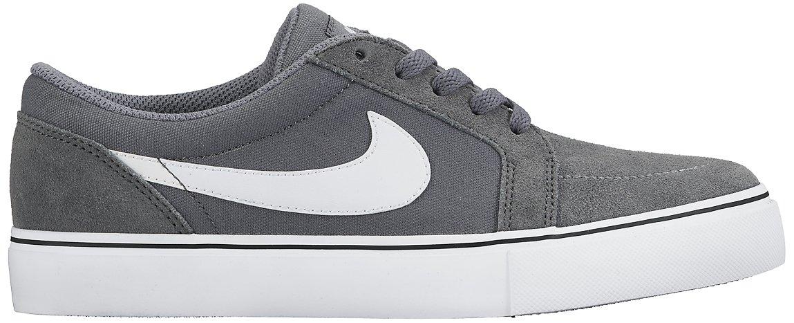 Nike Kids Satire II (GS) Cool Grey/White Black Skate Shoe 7 Kids US by NIKE