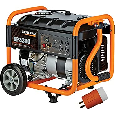 Generac GP3300 Portable Generator-3750 Surge Watts, 3300 Rated Watts, EPA and CARB Compliant
