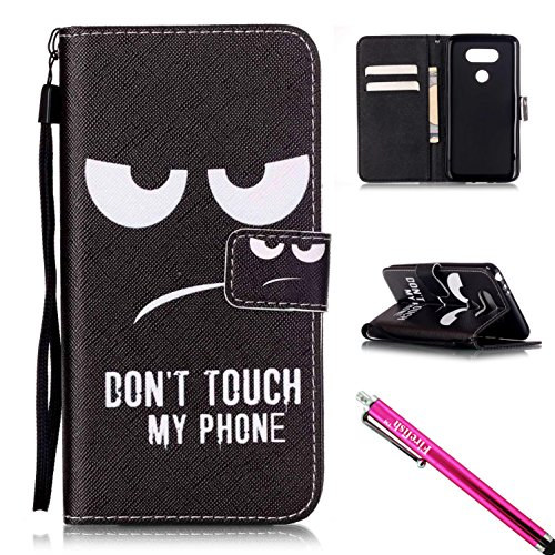 - LG G5 Case, Firefish Kickstand Flip [Card Slots] Wallet Cover Double Layer Bumper Shell with Magnetic Closure Strap Protective Case for LG G5-Eye