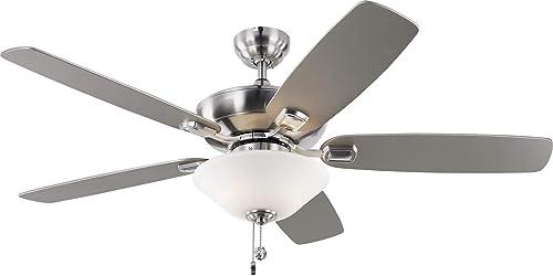 Monte Carlo 5COM52BSD-V1 Colony Max Plus TSCA Title VI Compliant Flush / Downrod Mount 52″ Outdoor Ceiling Fan