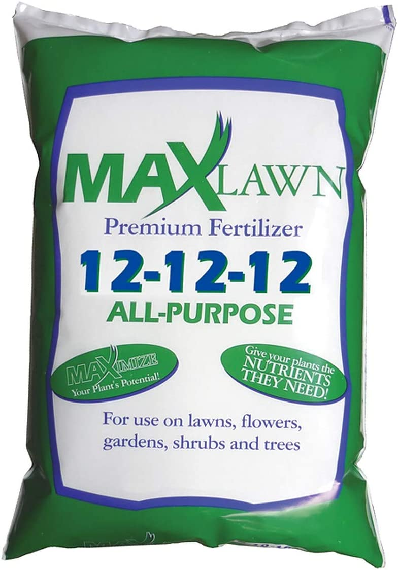 MaxLawn 12-12-12 All-Purpose Fertilizer | Balanced Fertilizer | Great for Lawns, Flowers, Gardens, Shrubs and Trees (20 lbs)