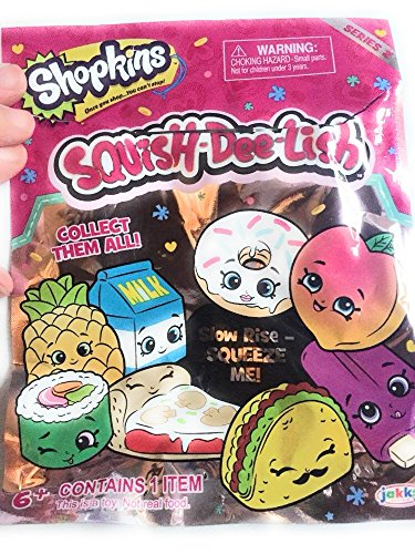 Pack of 3 Squish-Dee-Lish Series 3 Slow Rise Blind Bag Figure