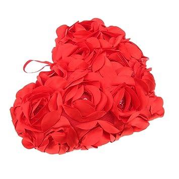 Amazon.com: baoblaze rosa Floral amor corazón Boster sofá ...