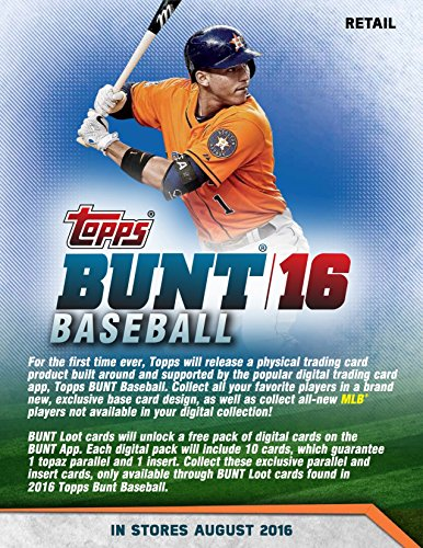 2016 Topps Bunt Baseball Blaster Box - This Value Box Contains Up 11 Packs With 7 Cards - Look For Bunt App Cards or Autographed Cards of Top MLB (Baseball Value Box)