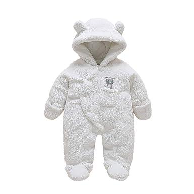86e1b5e9fcef8 WSLCN Unisexe Bébé Grenouillères Combinaison Barboteuses Déguisement  Manteau Capuche Mignon Costume de Enfants Stitch Pyjama Forme
