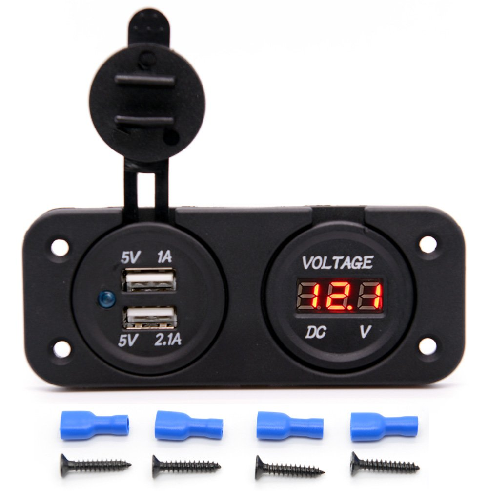 Cllena Car Truck Rocker Toggle LED Switch Shell 3 Pins On-Off Control 12V Blue Light