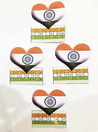 Indian Flag Tambola Tickets