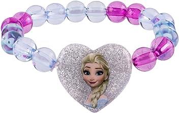 SIX Kinder Disney Schmuck, Frozen Perlenarmband mit Anna und ELSA Herz-Anhänger (294-596)