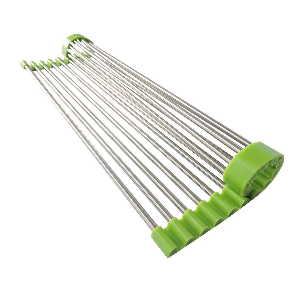 Amazon.com: Xcellent Global Roll-Up Kitchen Dish Drying Rack ...
