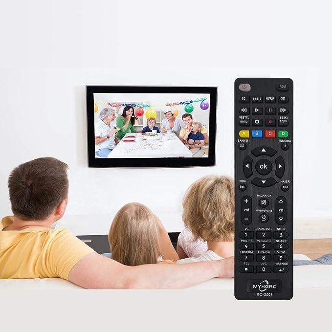 MYHGRC Mando Universal TV Apto para Sony/TCL/Hisense/JVC/RCA/Sharp/Sanyo/Toshiba/Hitachi/Samsung/Philips/Panasonic Smart TV- No Requiere configuración Control Remoto Universal de TV: Amazon.es: Electrónica