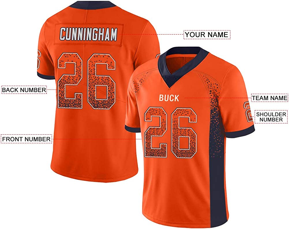 Custom Football Jerseys Customized Mesh Team Uniforms Personalized Printed/&Stitched Name/&Number for Men//Women//Youth