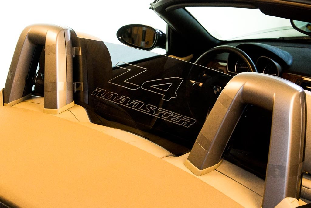 DEFLECTAIR() - Wind Deflector for BMW Z4 2002-2008 Convertible - Black w/ Z4 ROADSTER Engraving