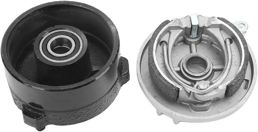 Enrilior Sports ATV Front Brake Wheel Drum Hub 3-Hole Left Side Fit Compatible with TPATV501