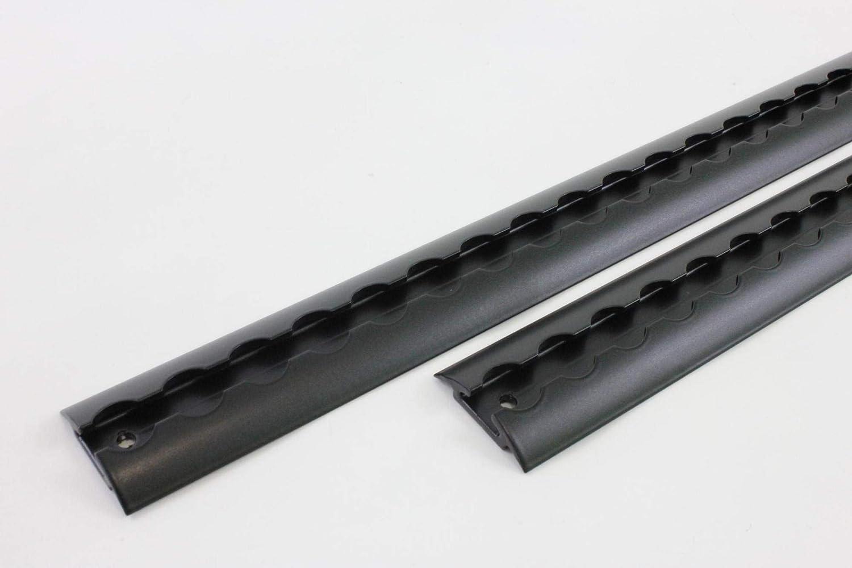 2/m, di alta qualit/à nero verniciato a polvere Alu airlin Schiene 20/mm diametro del foro 2/X 2/m airlin Schiene halbrunde Form