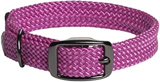 product image for Mendota Pet Double Braid Collar - Black Metallic - Dog Collar - Made in The USA - Raspberry , 1 in x 21 in Standard