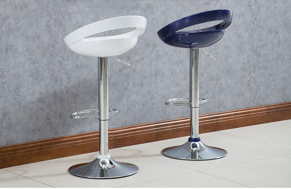 AO-stools Bar Chair Can Be Raised and Lowered Rotating High Stools Leisure Bar Chairs Etc 100x35cm (Color : White) by AO (Image #7)