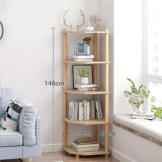 Corner Shelf 5 Tier Shelves Stand Storage Display Book Rack Organizer Decor Home