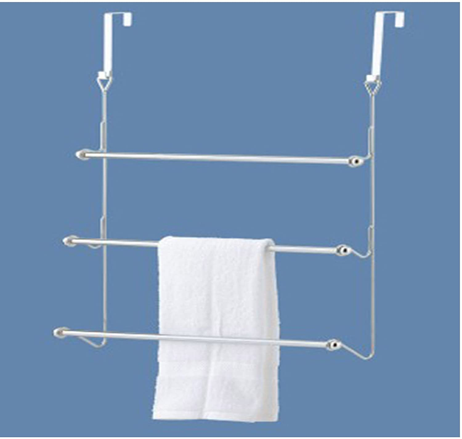 Amazon.com: GinsonWare Chromed Over the Door Towel Rack. 22.5\