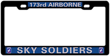 173Rd Airborne Sky Soldiers License Plate Frame Tag Holder