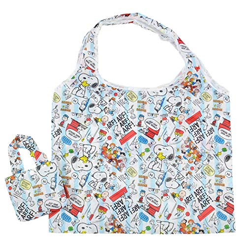 - J's Planning Reusable Grocery Shopping Bag Foldable Shopper Bag 42x34cm Japan Characters Series - Peanuts Snoopy FAE102