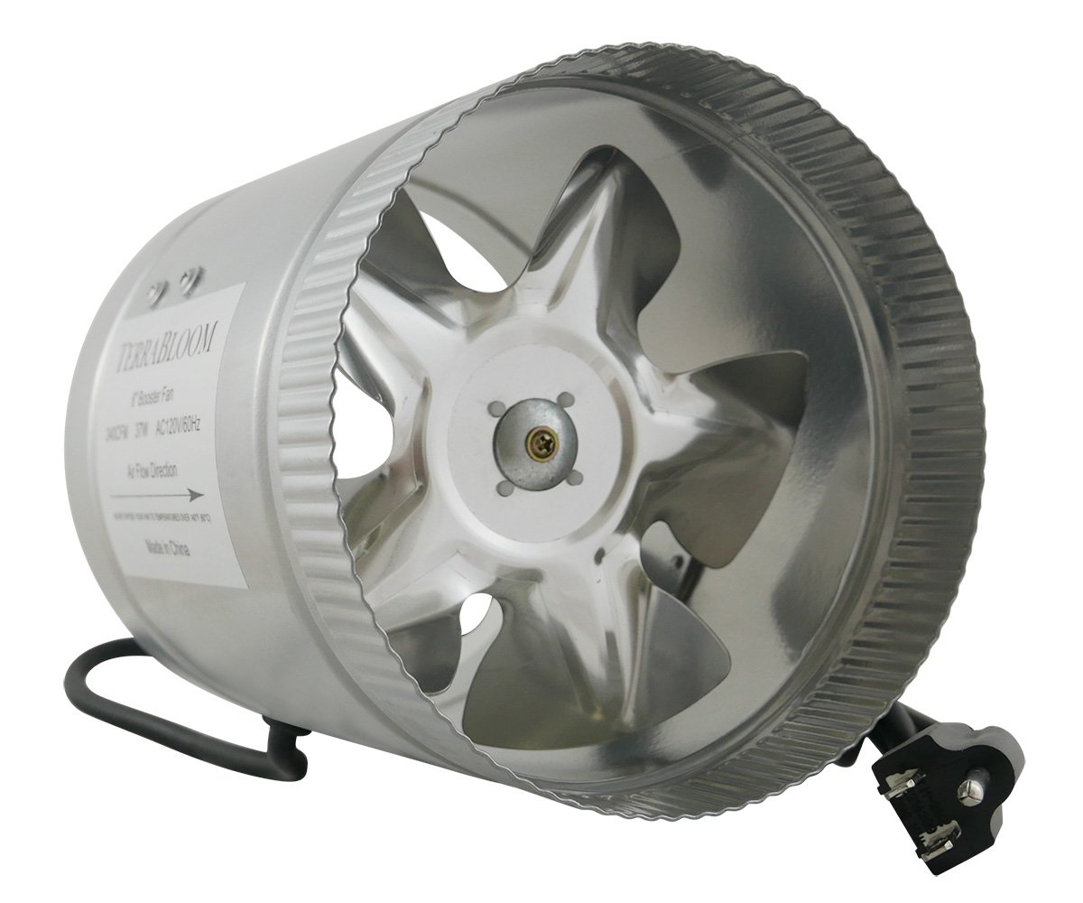 Heating Duct Booster Fans : Terrabloom inline duct fan cfm inch booster for