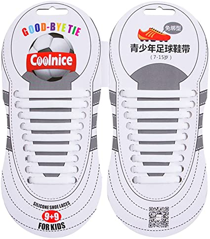 Footful Black No Tie Elastic Shoe Laces Lock Shoelace For Sport Running Kids