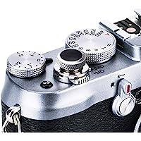 JJC Soft Release Button for Fujifilm Fuji X100V X-T4 X100F X-T30 X-T20 X-T3 X-T2 X-PRO2 XPRO-1 X100T X-E3 X-T10 X100 X100S X-E2S X30 X20 X10 Sony RX10 IV III II RX1RII RX1R RX1 - GR Black