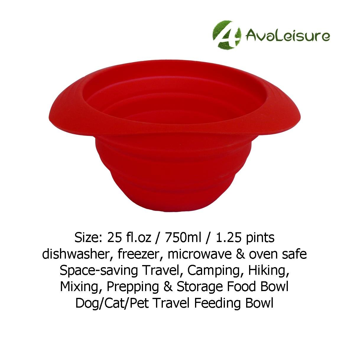 AVALEISURE COLLAPSIBLE SILICONE TRAVEL CUP- the Genuine 10oz Foldable Drinking Mug with Lid, BPA Free, Water, Coffee, Tea & Snacks for Hiking, Camping, Picnic & Commuting to Work by AVALEISURE (Image #6)