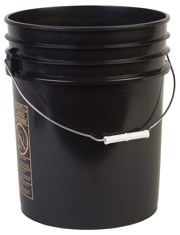 Hudson Exchange Premium 5 Gallon Bucket with Gamma Seal Lid, HDPE, Black