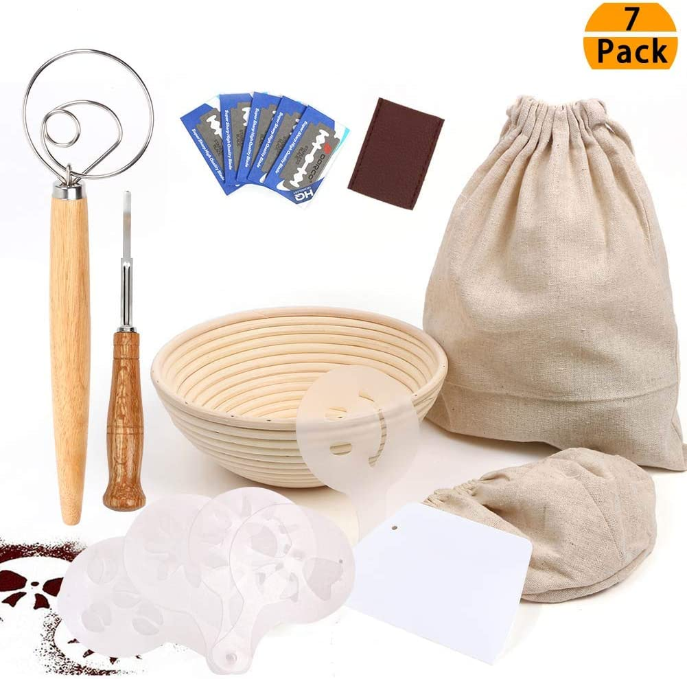 Gift set- Lame, basket, dough whisk & more