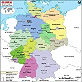 Germany Political Map (36'' W x 35.8'' H)