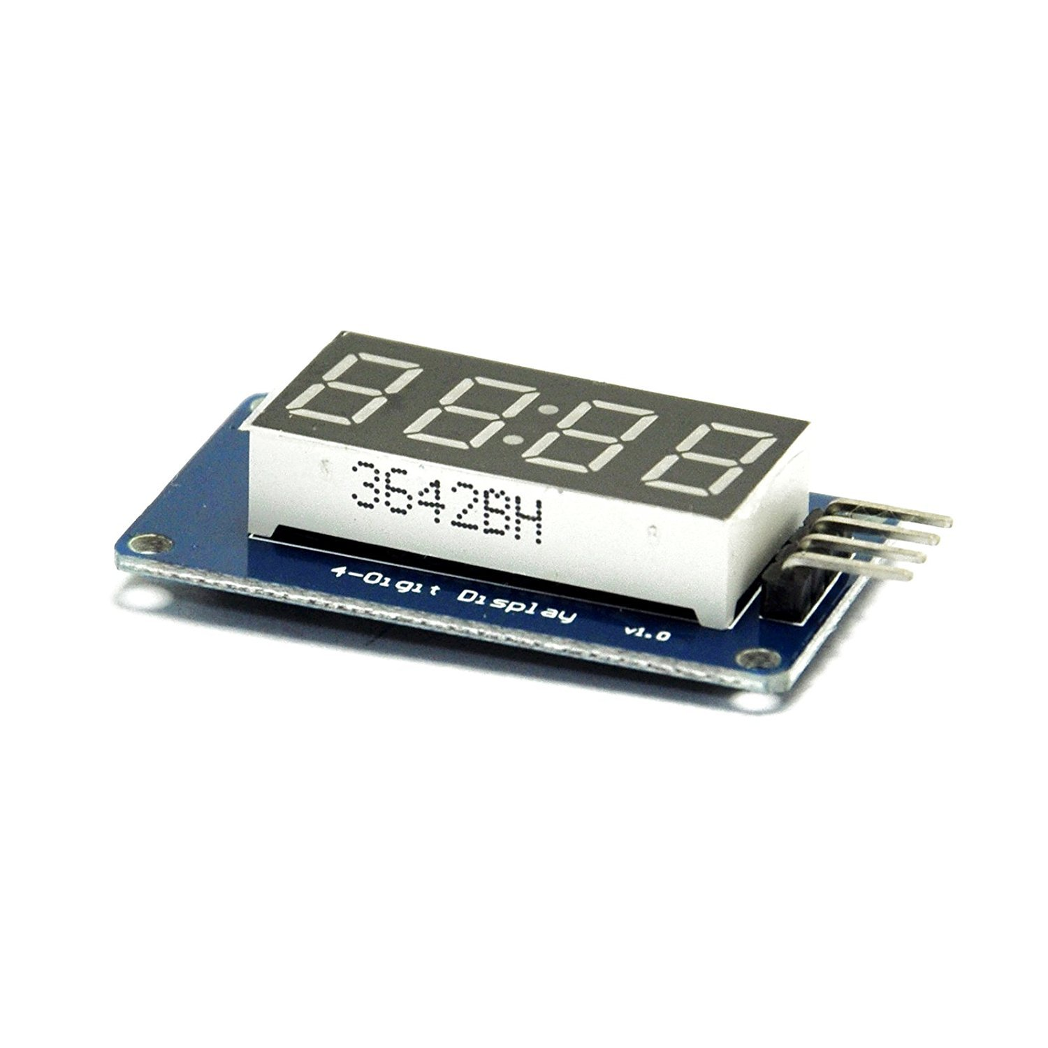 CAOLATOR TM1637 Chip DC 5V / 3,3V LED Digital de 4 bits Módulo de Visualización de 8-Segmentos Display de Reloj para Arduino: Amazon.es: Electrónica