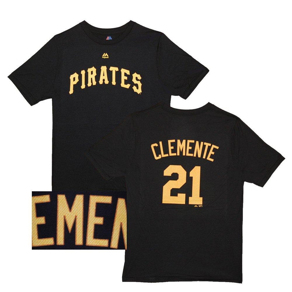 big sale d86e7 58f46 Amazon.com : Majestic Roberto Clemente Pittsburgh Pirates ...