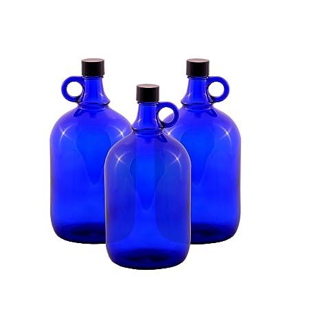 LGL Haushaltswaren 3/X 5/Litri Ballon Bottiglia in Vetro Blu gallone
