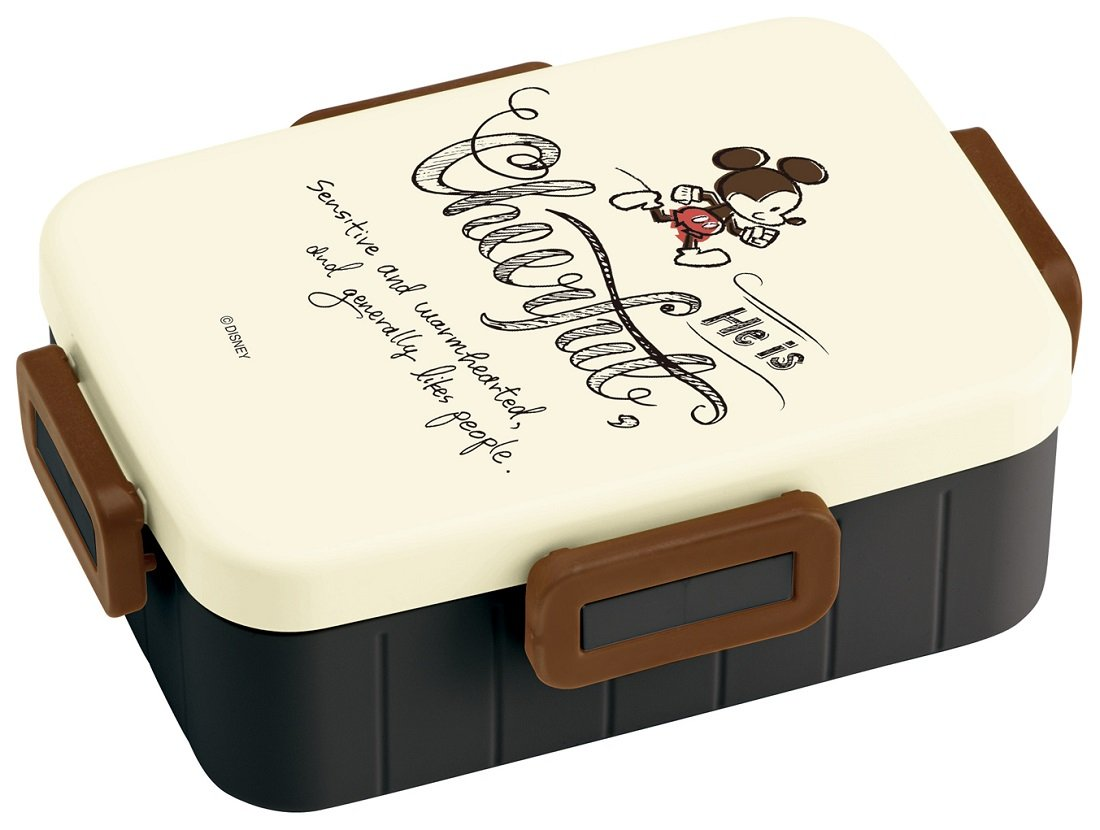 Bento Japanese Lunch Box 650ml with 4 Locks Disney Mickey Mouse YZFL7 by Skater from Japan