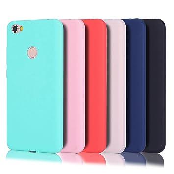 Wanxideng - 6 x Funda Xiaomi Redmi Note 5 Prime, Carcasa Suave Mate en Silicona TPU - Soft Silicone Case Cover - 6 Fundas de Colores [ Negro+ Rojo+ ...
