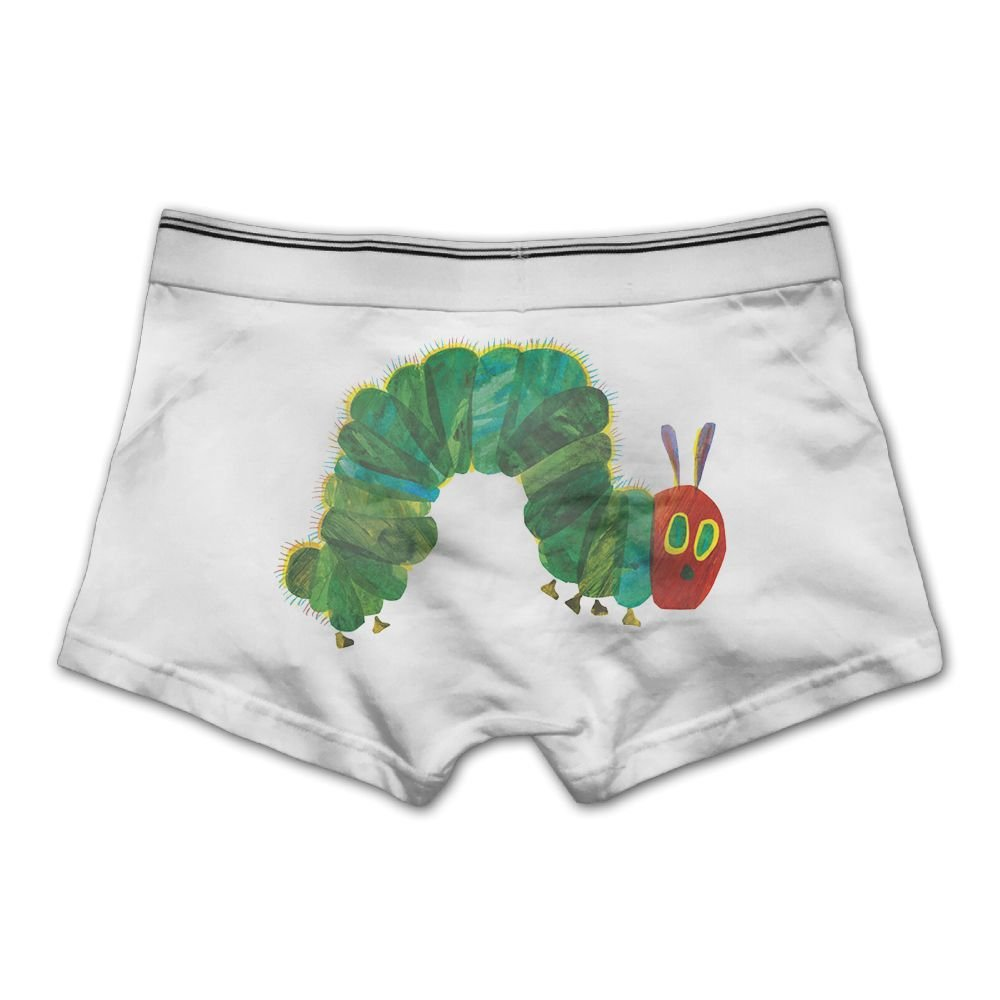 Ghhpws Factory Mens The Very Hungry Insect Underwear Cotton Boxer Briefs Stretch Low Rise Trunks White