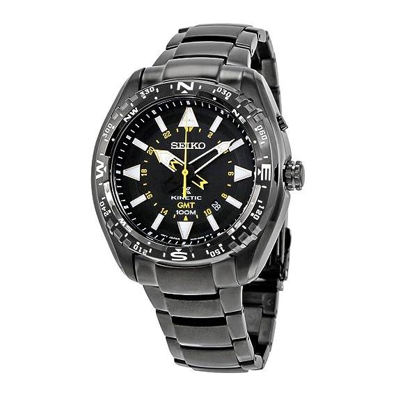Seiko Kinetic Prospex de la hombre-reloj analógico de cuarzo chapado en acero inoxidable SUN047P1