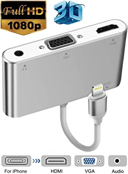 NYXCAM Adaptador Compatible con iPhone 8 Plus X 7 iPad Air Mini ...