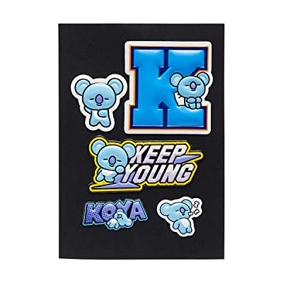 BT21 Official Merchandise by Line Friends - KOYA Character 5 Piece Decal Stickers: Computers & Accessories