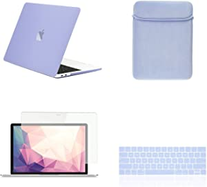 "TOP CASE MacBook Pro 13 inch Case 2019 2018 2017 2016 Release A2159 A1989 A1706 A1708, 4 in 1 Essential Rubberized Hard Case, Keyboard Cover, Screen Protector, Sleeve for MacBook Pro 13""-Serenity Blue"