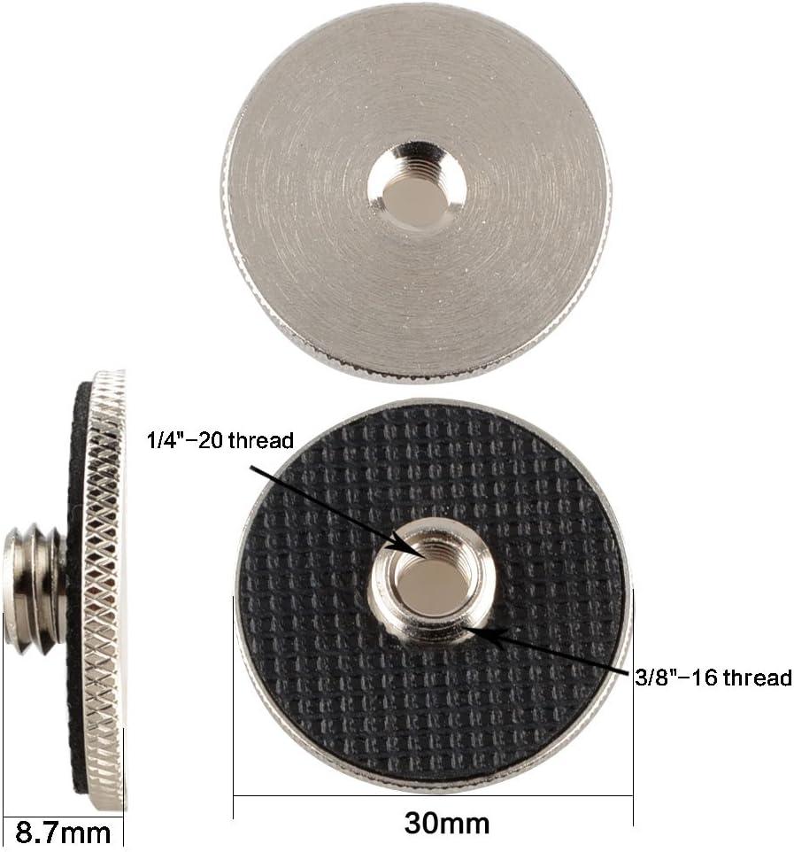 CAMVATE 1//4-20 femelle vers 3//8-16 m/âle convertir adaptateur pour tr/épied photo et plateau rapide