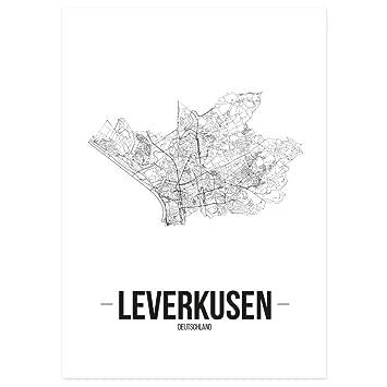 Ludwigsburg Kunstdruck Plan Map JUNIWORDS Stadtposter Schwarz